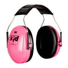3M PELTOR Kid gehoorkap met hoofdband, H510AK-442-RE, Neon-Roze, 27 dB