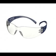3M SecureFit 100 veiligheidsbril blauw montuur krasbestendig heldere lens