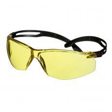 3M SecureFit 500 Veiligheidsbril zwart/amber met Scotchgard
