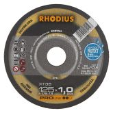 Rhodius XT38 doorslijpschijf 125 x 1,0 mm